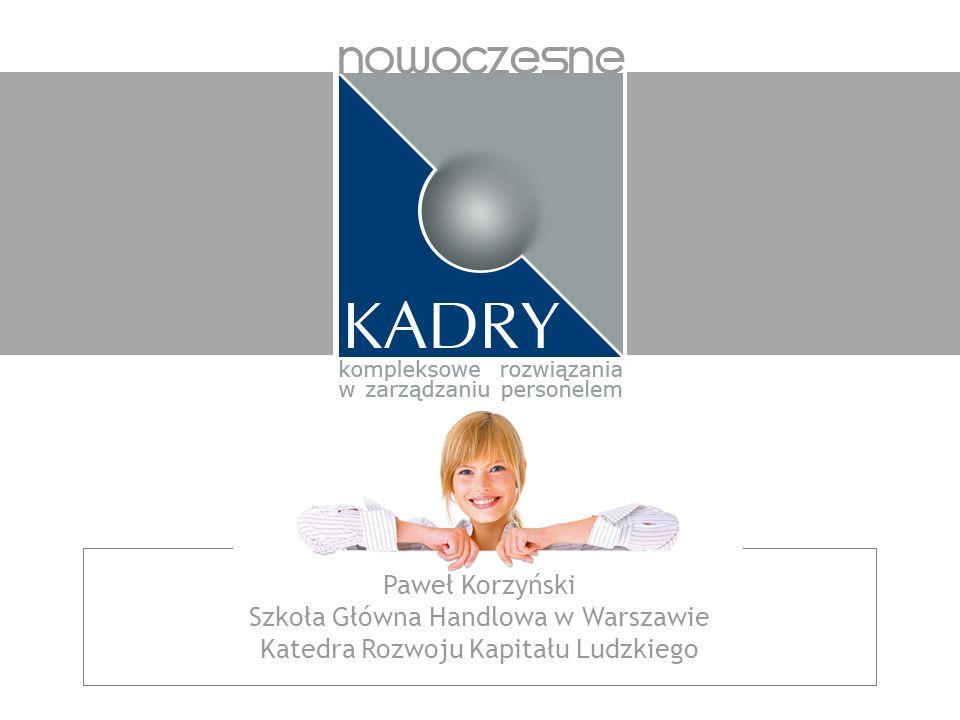Paweł Korzyński Szkoła Główna Handlowa w Warszawie Katedra Rozwoju Kapitału Ludzkiego