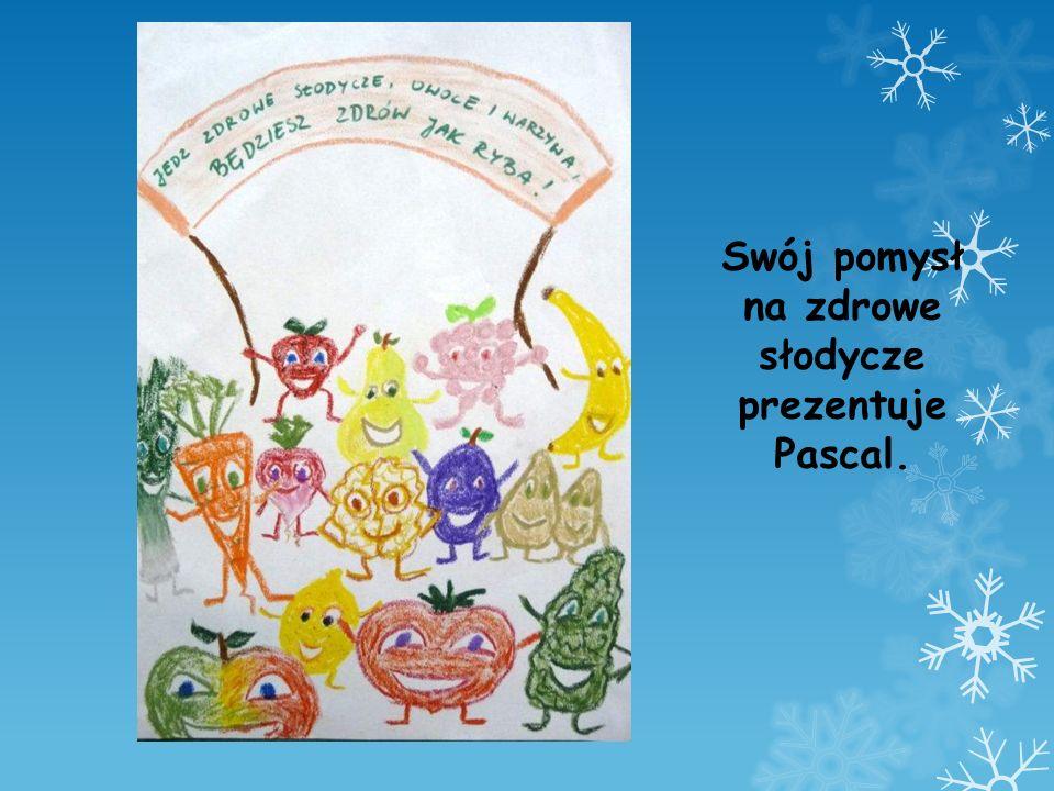 Swój pomysł na zdrowe słodycze prezentuje Pascal.
