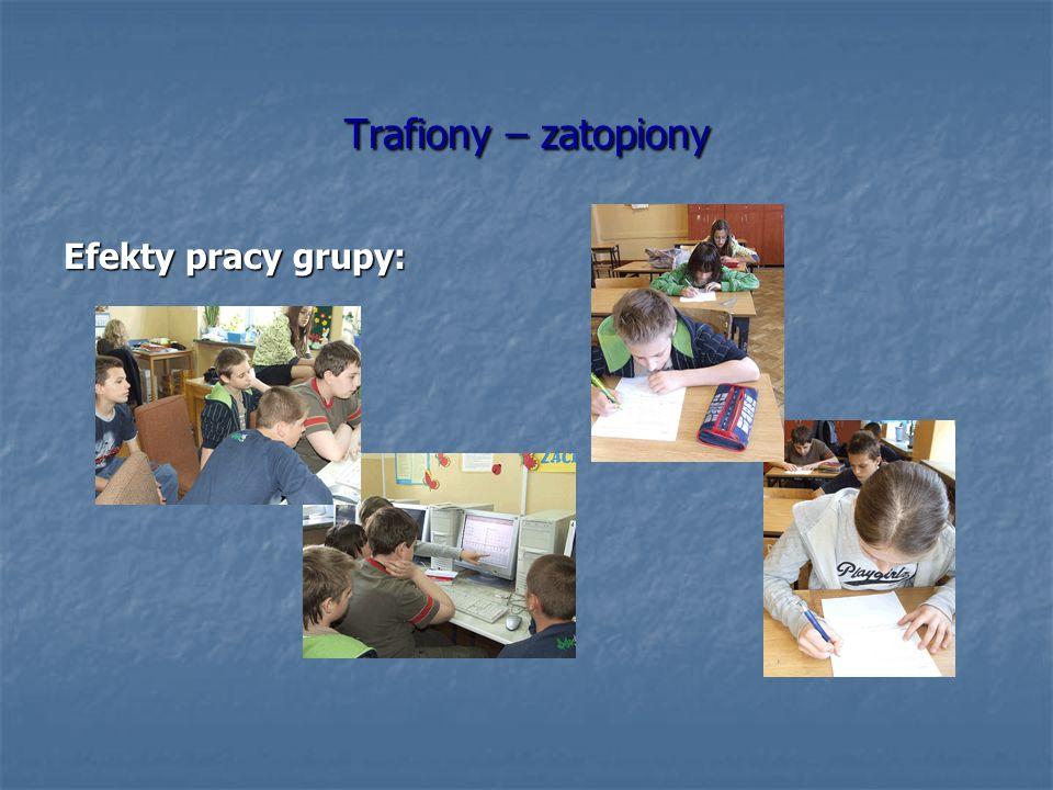 Trafiony – zatopiony Efekty pracy grupy: