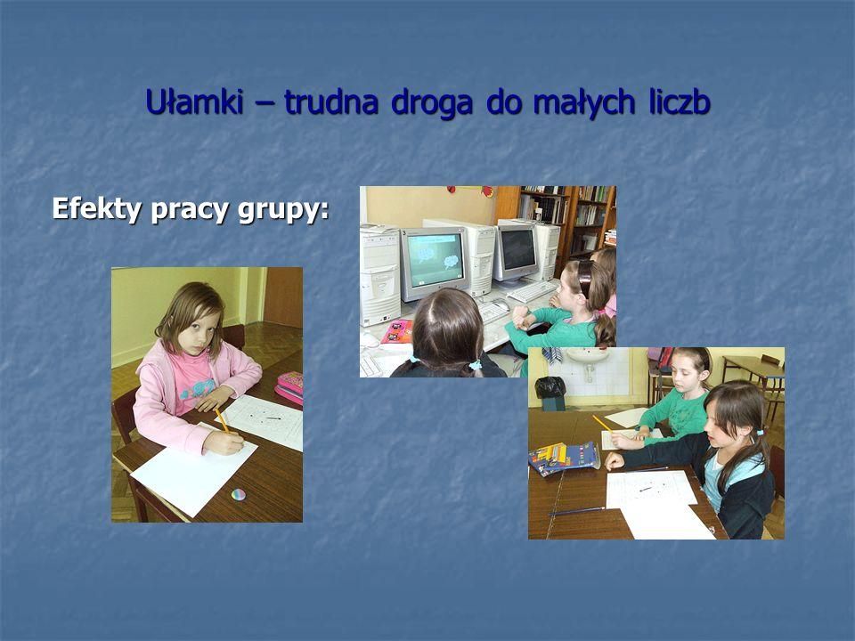 Zginamy i składamy – figury osiowosymetryczne Efekty pracy grupy:
