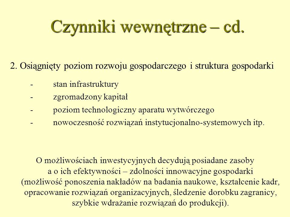 Czynniki wewnętrzne – cd.2.