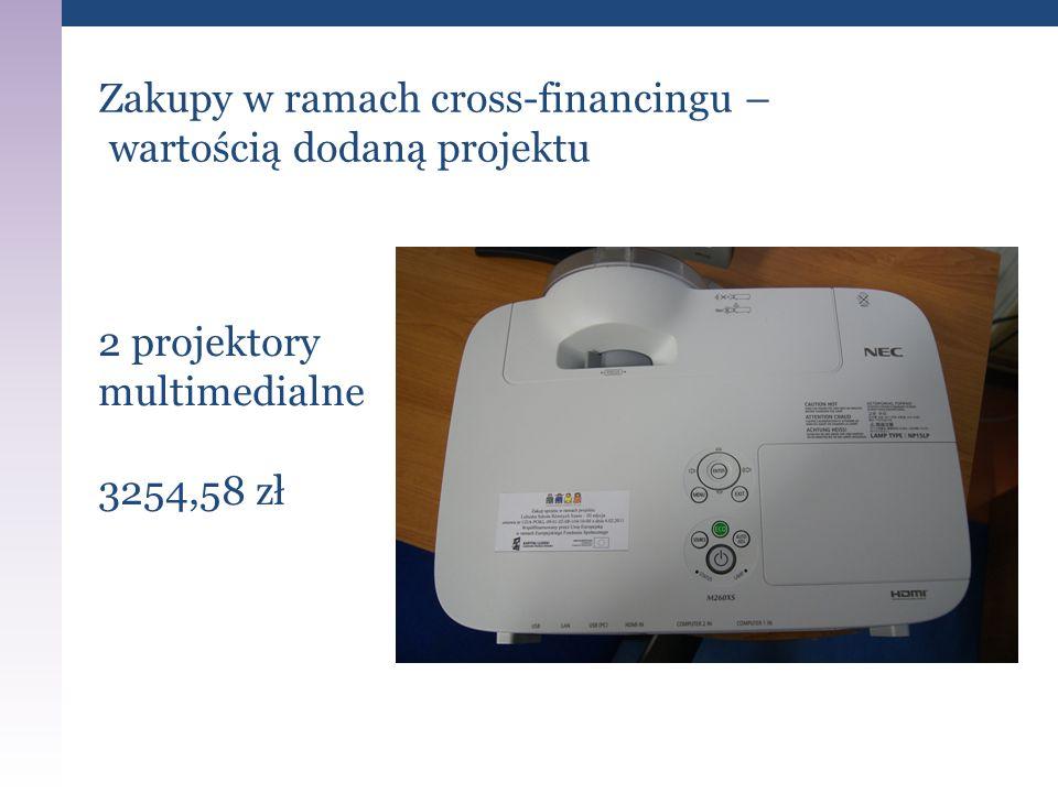 Zakupy w ramach cross-financingu – wartością dodaną projektu 2 projektory multimedialne 3254,58 zł