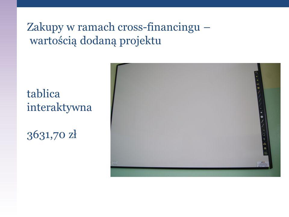 Zakupy w ramach cross-financingu – wartością dodaną projektu tablica interaktywna 3631,70 zł