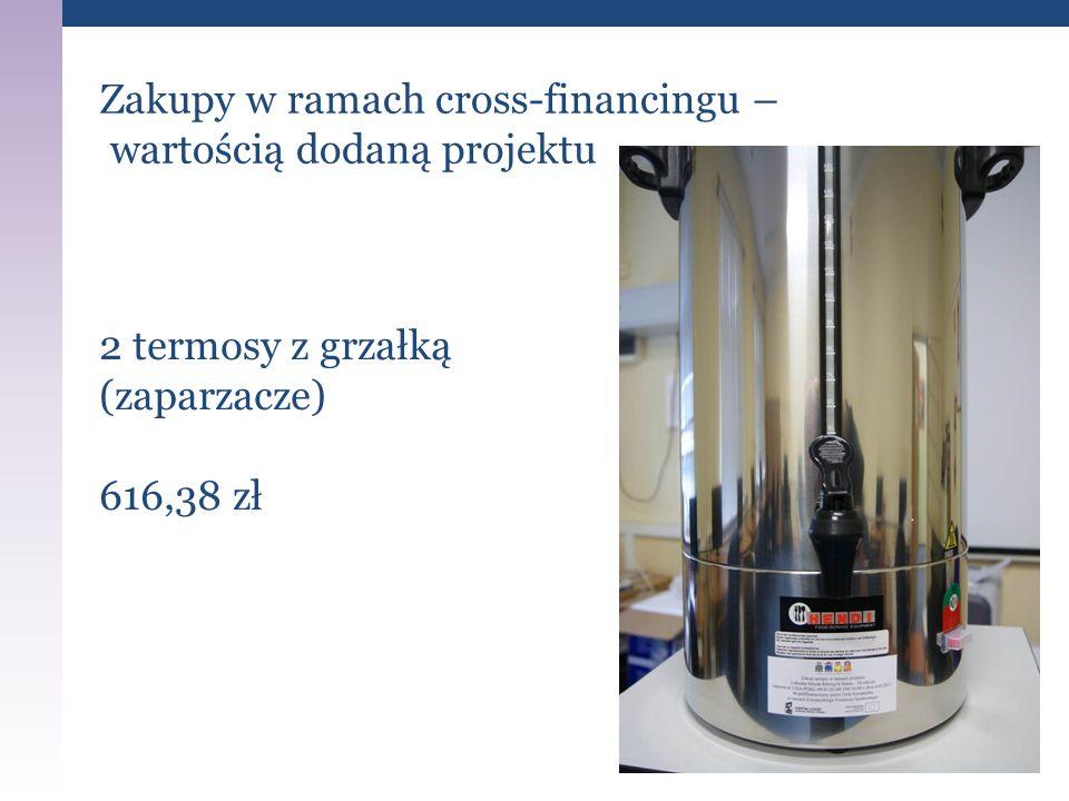 Zakupy w ramach cross-financingu – wartością dodaną projektu 2 termosy z grzałką (zaparzacze) 616,38 zł