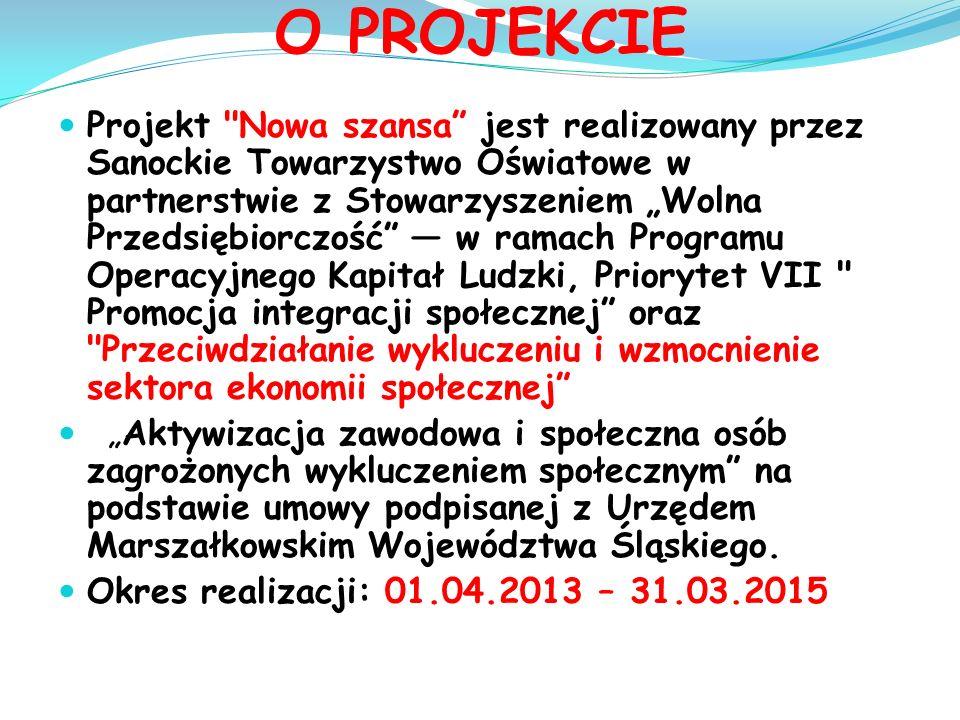 Celem projektu jest aktywizacja społeczna i zawodowa 150 osób niepełnosprawnych w wieku 15-27 lat, zamieszkujących na terenie województwa śląskiego, pozostających bez zatrudnienia