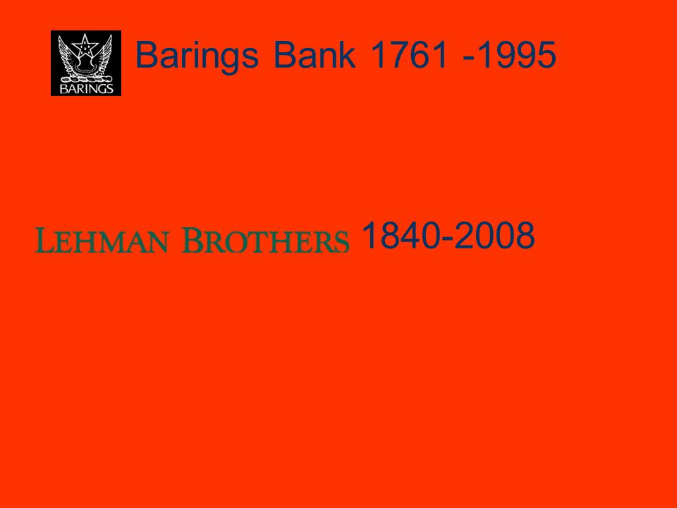 Barings Bank 1761 -1995 1840-2008