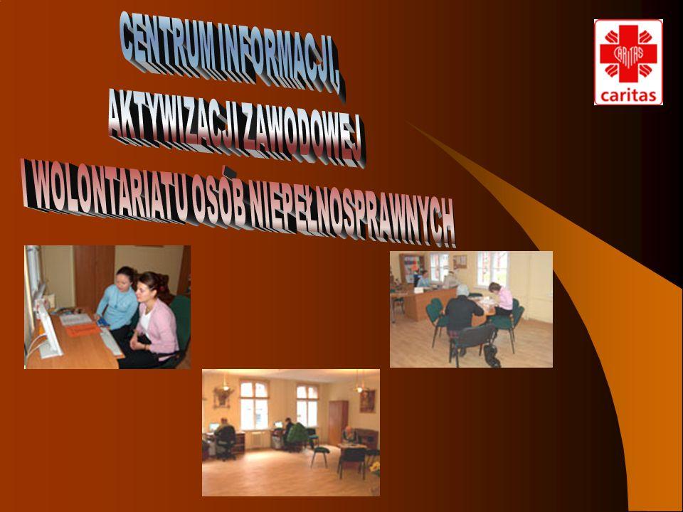 PRACOWNICY CENTRUM CARITAS WOLONTARIUSZE współpraca OSOBY NIEPEŁNOSPRAWNE działania na rzecz osób niepełnosprawnych