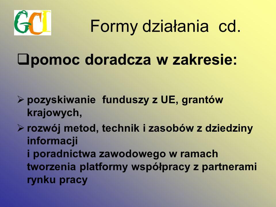Formy działania cd.