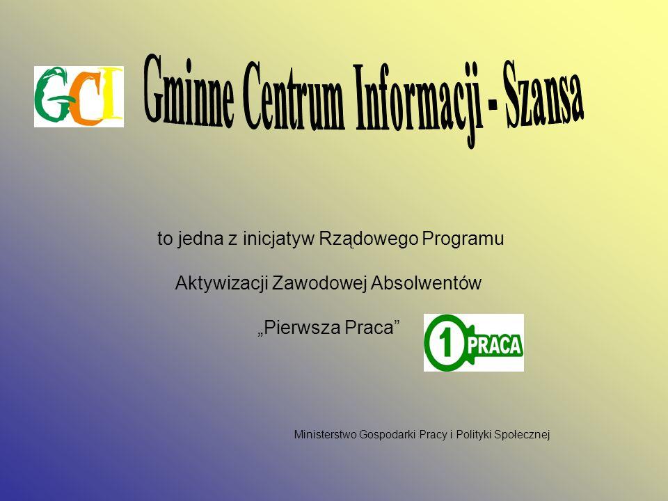 GMINNE CENTRUM INFORMACJI - Szansa ul. Chrobrego 40/41 62 – 200 Gniezno Tel.