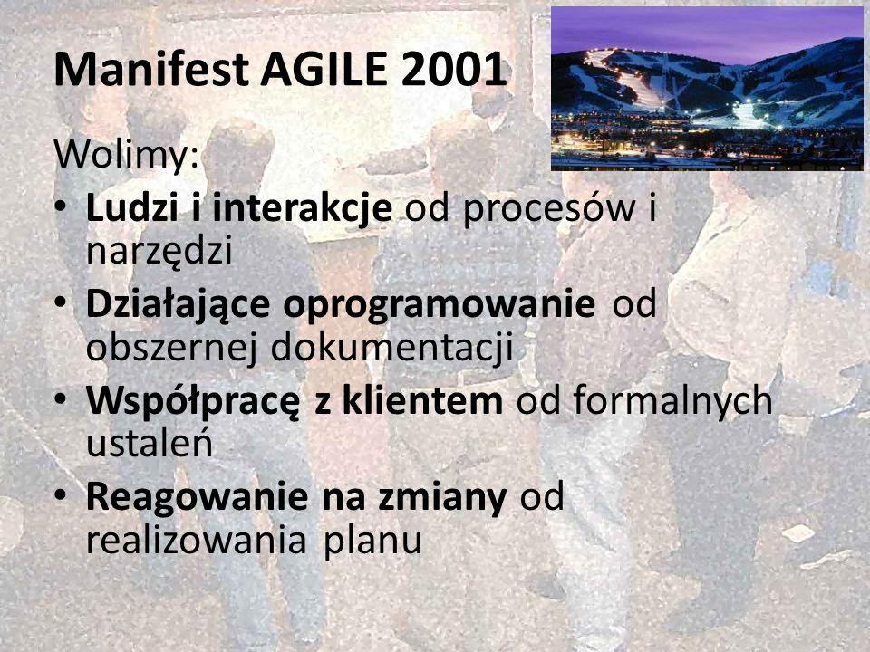 Post-agilism: wybór najlepszego rozwiązania http://victo.eu/kkio2013/post_agilism.ppsx Bogdan Bereza 20 (62) Manifest AGILE 2001 Wolimy: Ludzi i inter