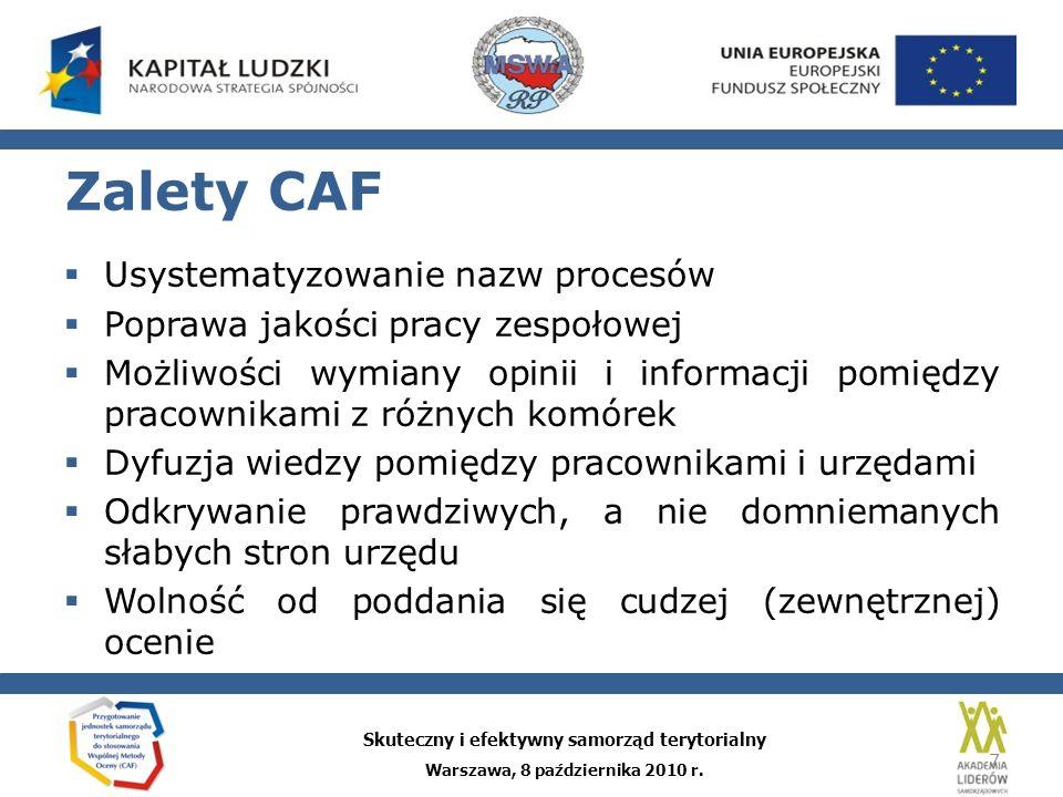 Wady CAF
