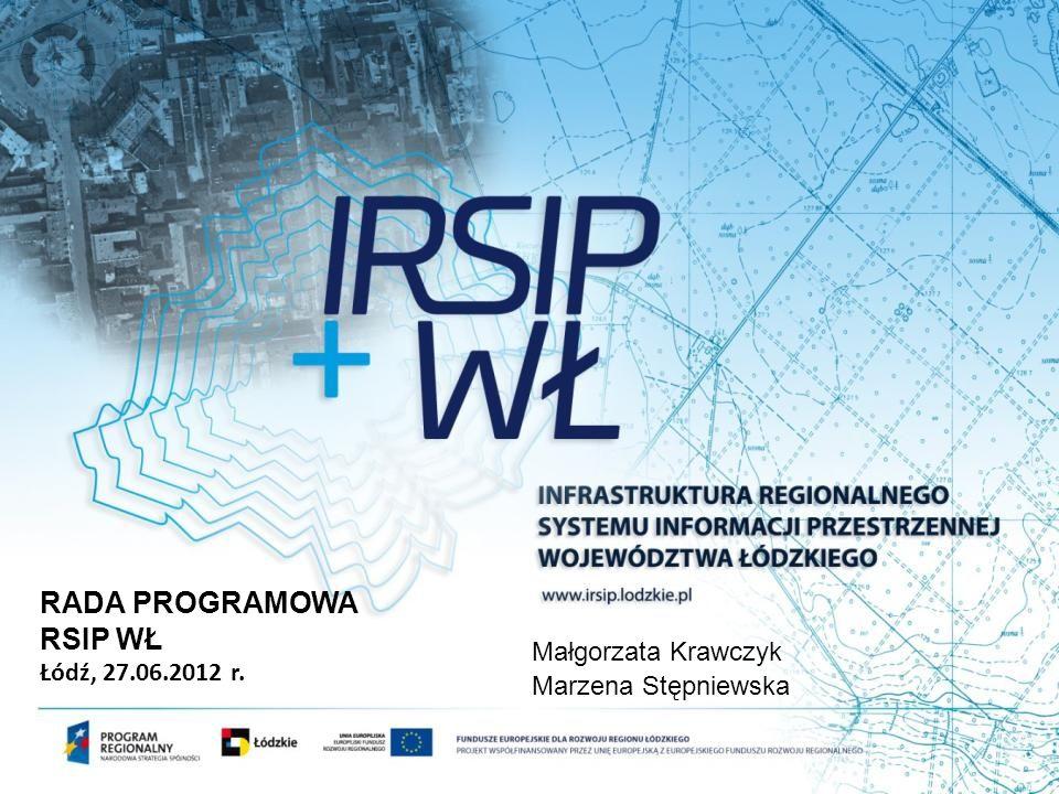 RADA PROGRAMOWA RSIP WŁ Łódź, 27.06.2012 r. Małgorzata Krawczyk Marzena Stępniewska