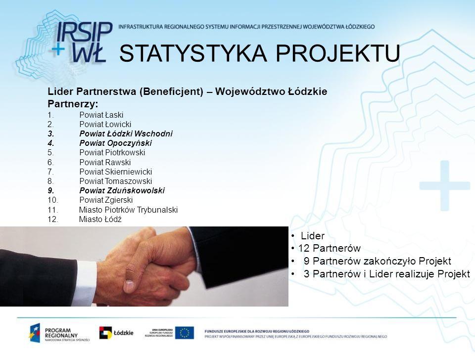 Lider Partnerstwa (Beneficjent) – Województwo Łódzkie Partnerzy: 1.Powiat Łaski 2.Powiat Łowicki 3.Powiat Łódzki Wschodni 4.Powiat Opoczyński 5.Powiat