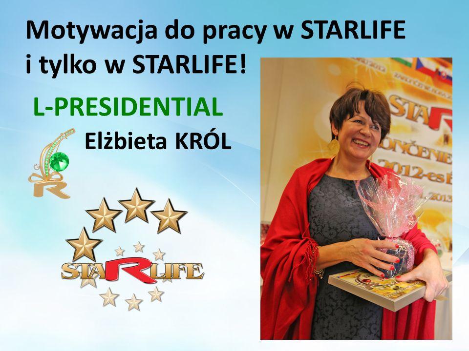 Motywacja do pracy w STARLIFE i tylko w STARLIFE! Elżbieta KRÓL L-PRESIDENTIAL