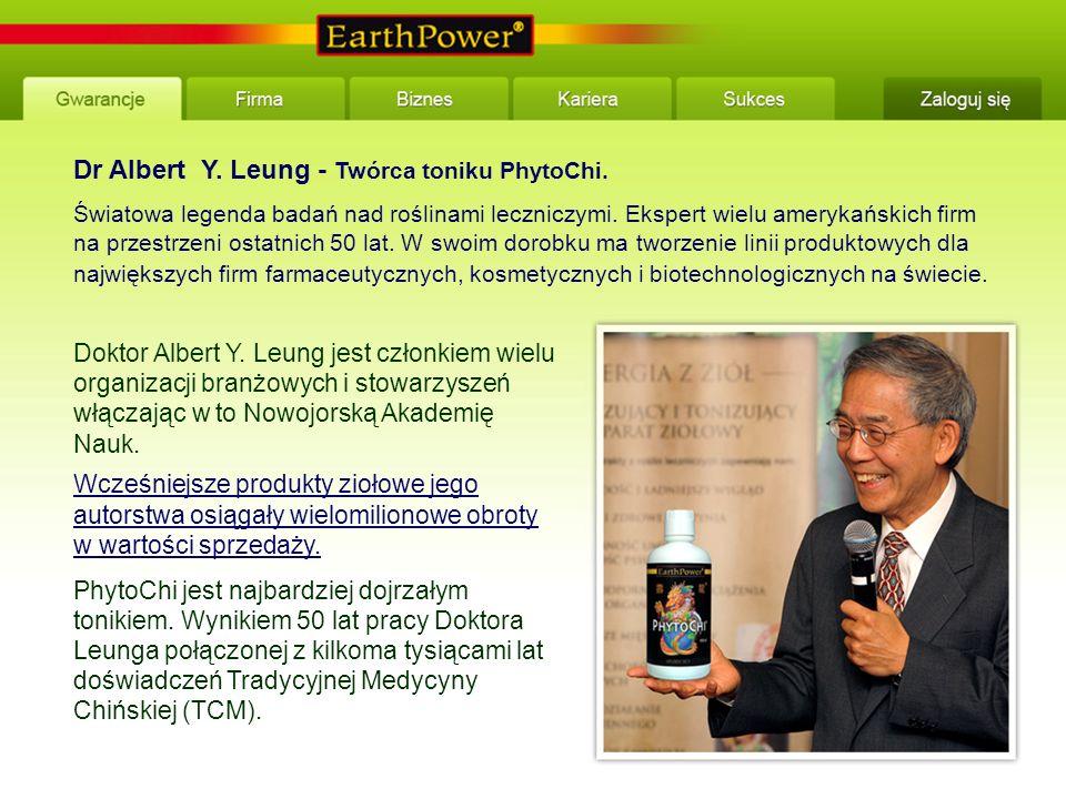 Dr Albert Y. Leung - Twórca toniku PhytoChi. Światowa legenda badań nad roślinami leczniczymi.