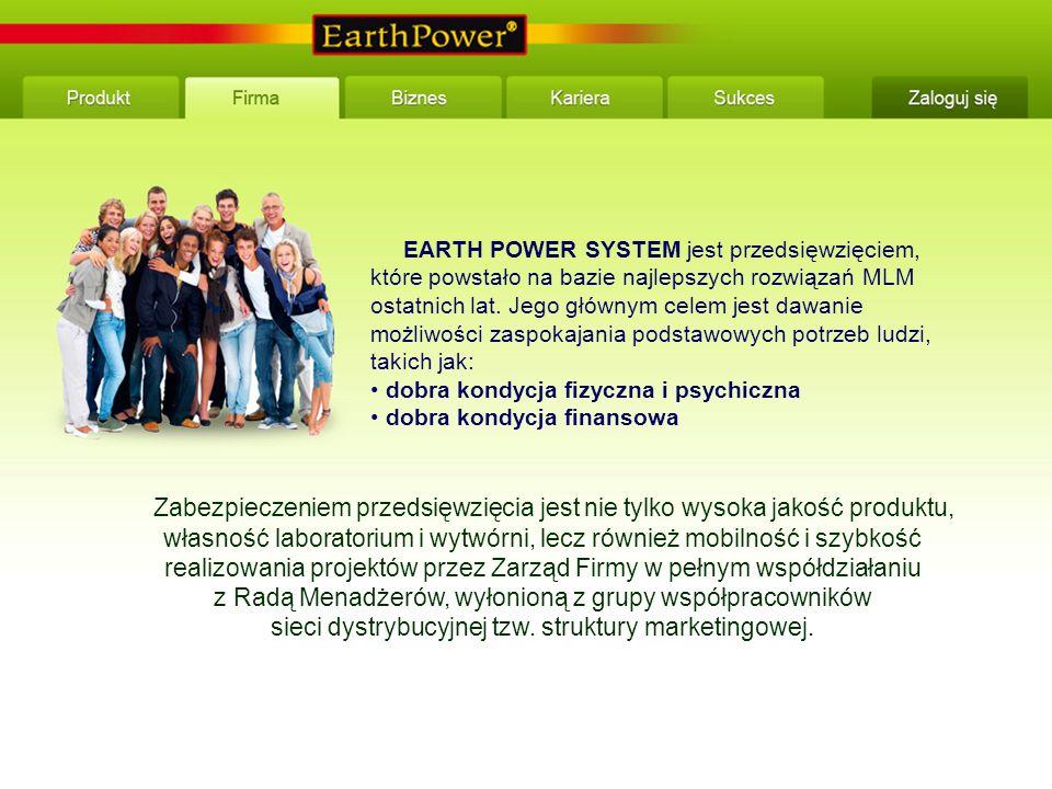 EARTH POWER SYSTEM jest przedsięwzięciem, które powstało na bazie najlepszych rozwiązań MLM ostatnich lat.