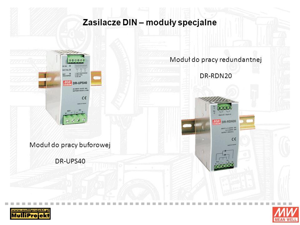 Zasilacze DIN – moduły specjalne Moduł do pracy buforowej DR-UPS40 Moduł do pracy redundantnej DR-RDN20