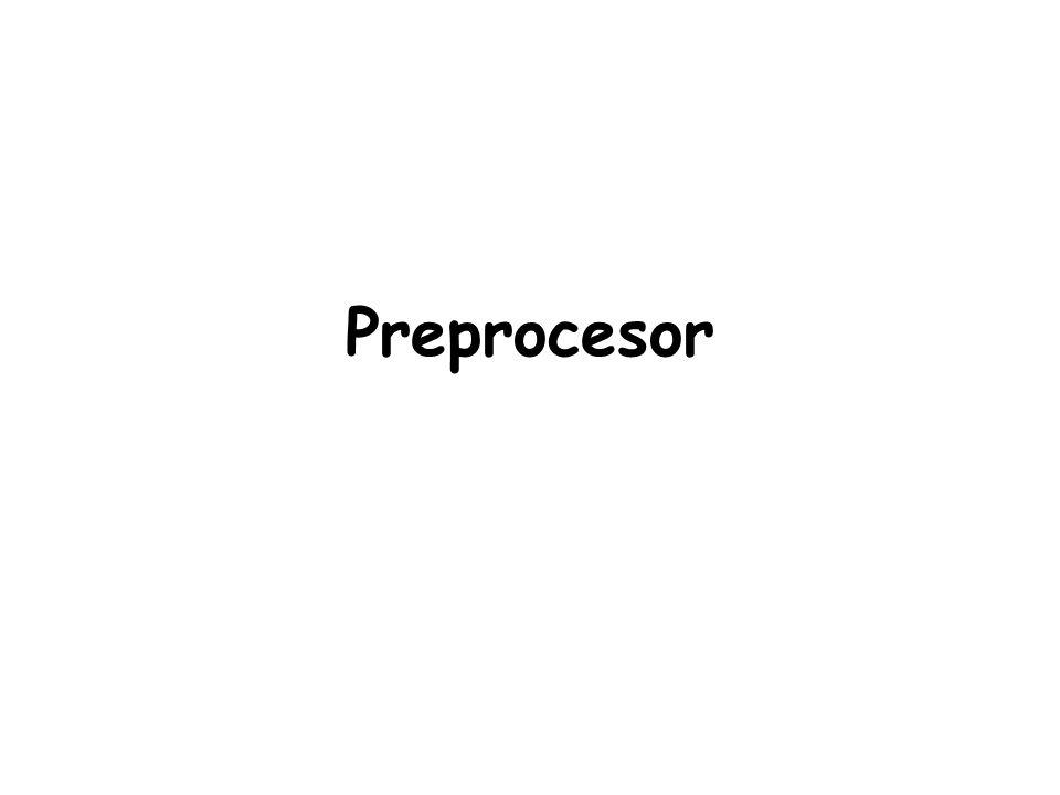 Preprocesor