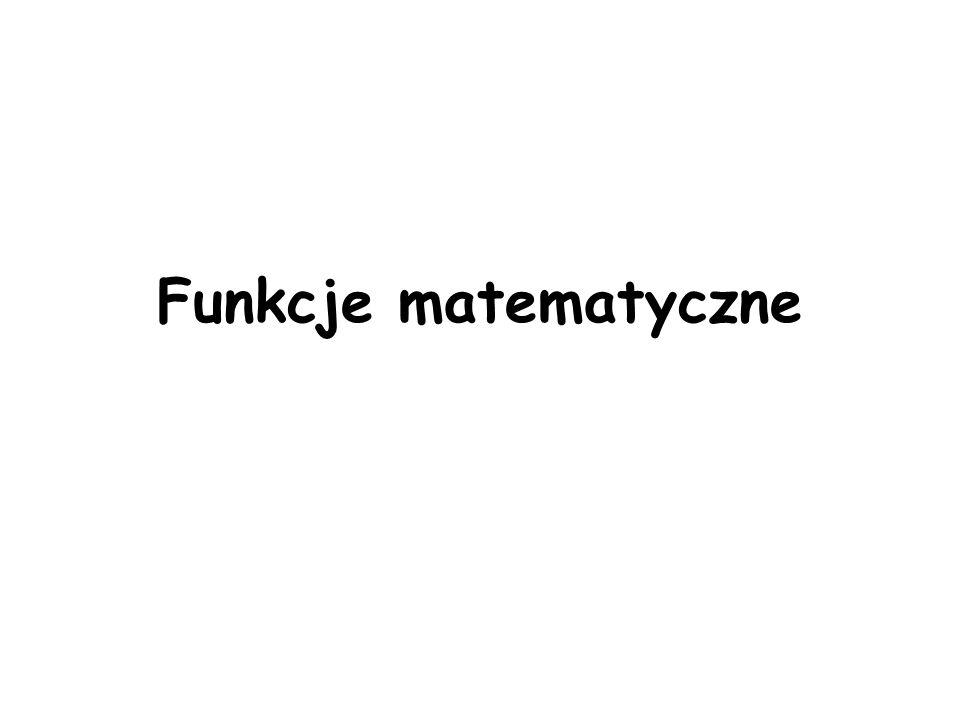 Funkcje matematyczne
