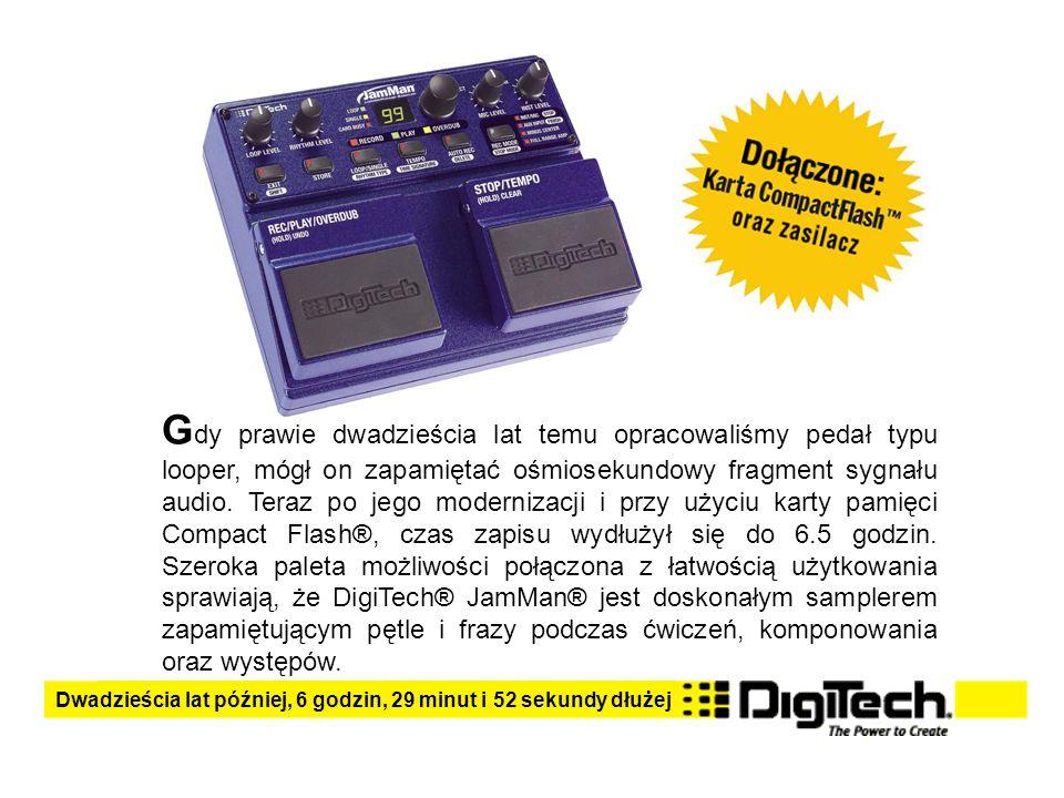 G dy prawie dwadzieścia lat temu opracowaliśmy pedał typu looper, mógł on zapamiętać ośmiosekundowy fragment sygnału audio.
