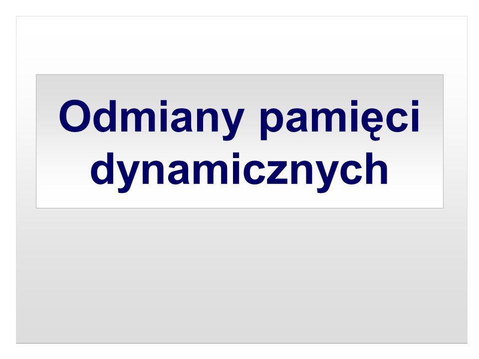 Odmiany pamięci dynamicznych