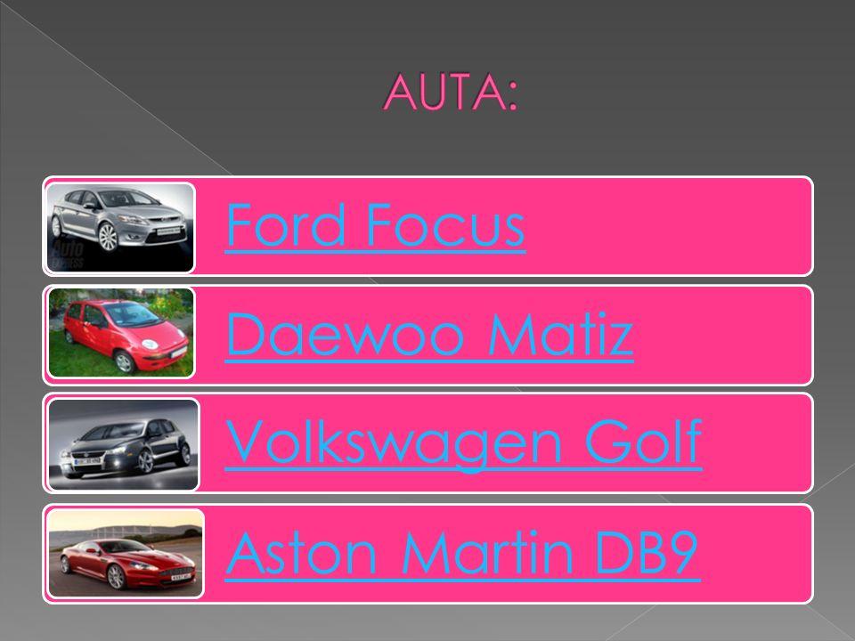 Ford Focus Daewoo Matiz Volkswagen Golf Aston Martin DB9