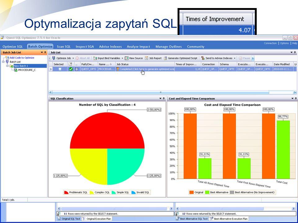 9 Optymalizacja zapytań SQL Wybór kryterium optymalizacji