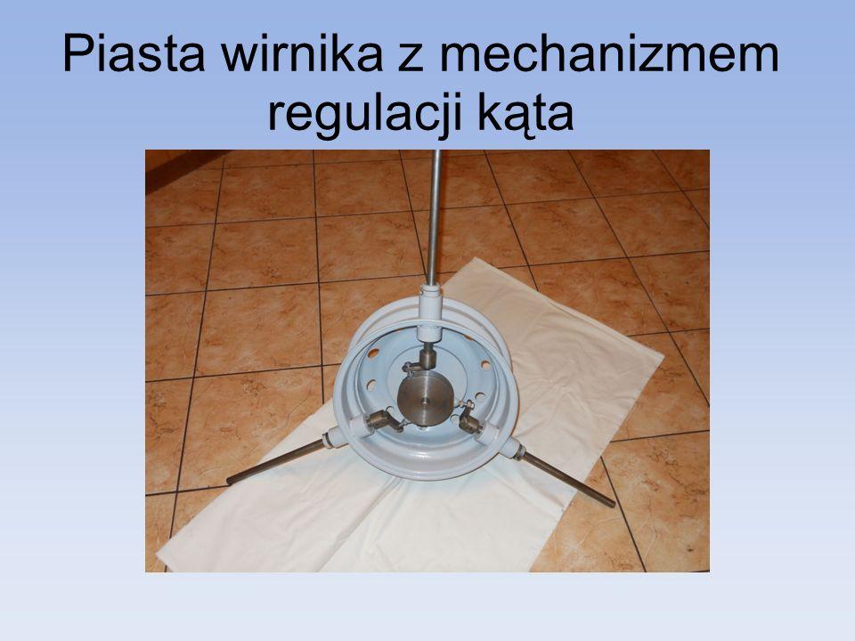 Piasta wirnika z mechanizmem regulacji kąta