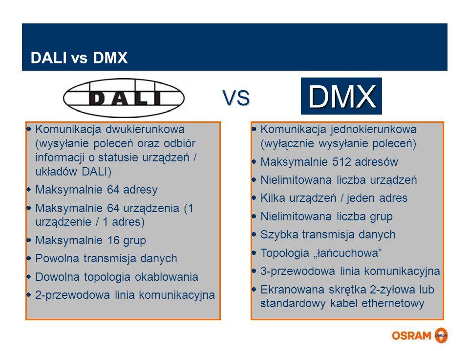 Master Presentation LMS   04.02.2011   Page 5 Master Presentation ENGLISH   Date: 04.02.2011   PL LMS MK DALI vs DMX Komunikacja dwukierunkowa (wysyła