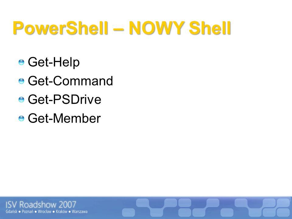 PowerShell – NOWY Shell Get-Help Get-Command Get-PSDrive Get-Member