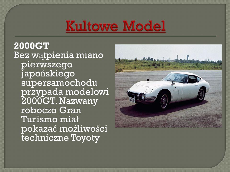 2000GT Bez w ą tpienia miano pierwszego japo ń skiego supersamochodu przypada modelowi 2000GT. Nazwany roboczo Gran Turismo mia ł pokaza ć mo ż liwo ś