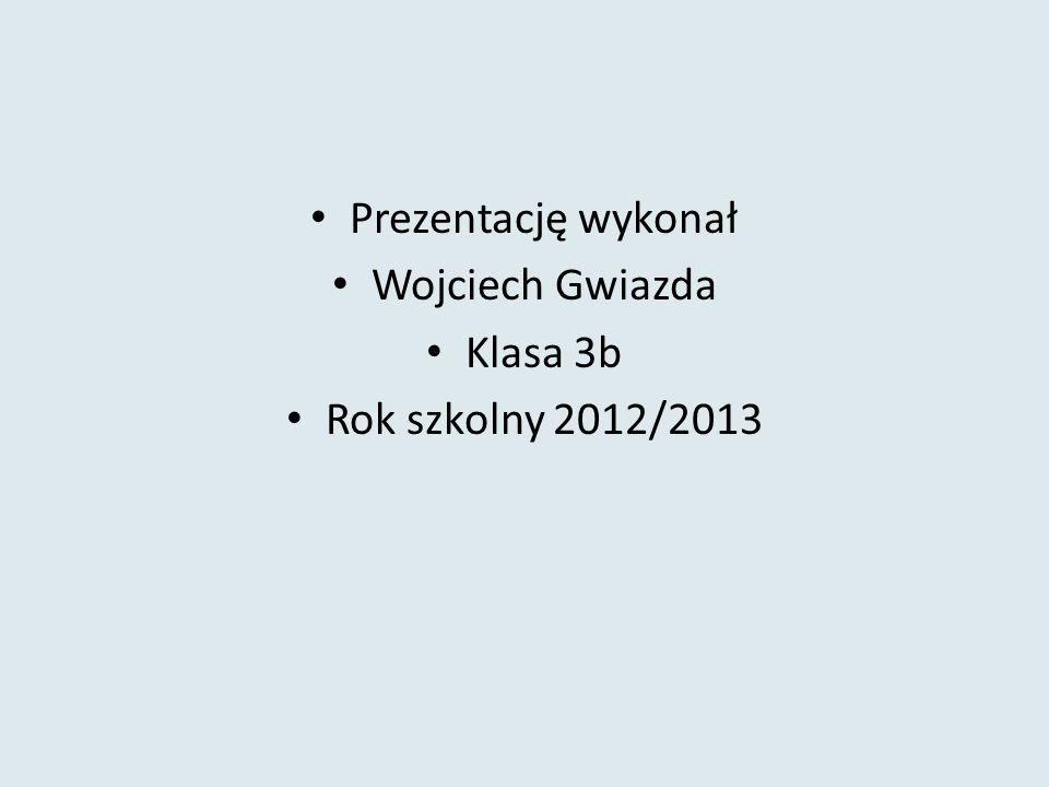 Prezentację wykonał Wojciech Gwiazda Klasa 3b Rok szkolny 2012/2013