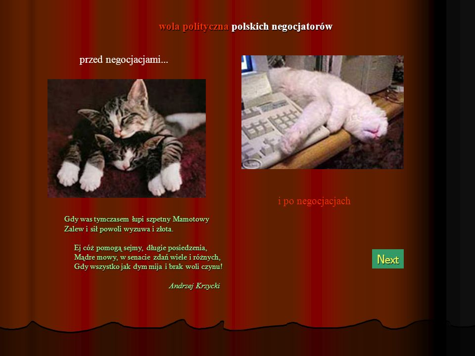 Liga Polskich Rodzin i Samoobrona... w oczach własnych w oczach własnych N ext