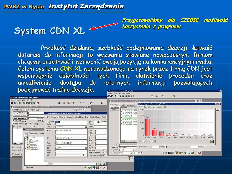 System CDN XL Prędkość działania, szybkość podejmowania decyzji, łatwość dotarcia do informacji to wyzwania stawiane nowoczesnym firmom chcącym przetr