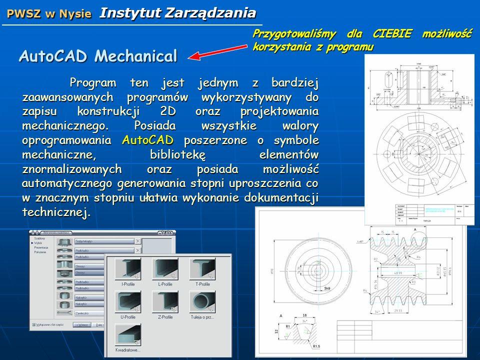 AutoCAD Mechanical Program ten jest jednym z bardziej zaawansowanych programów wykorzystywany do zapisu konstrukcji 2D oraz projektowania mechaniczneg