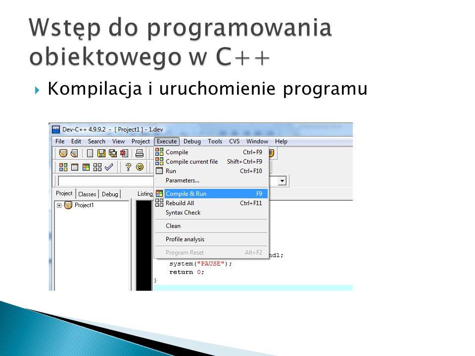 Kompilacja i uruchomienie programu