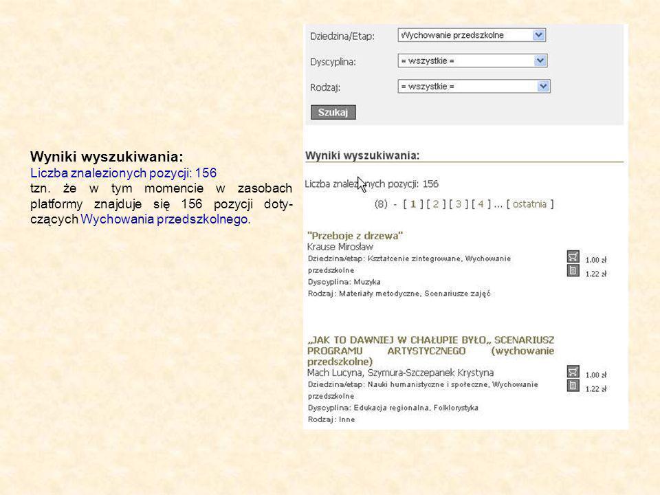 Wyniki wyszukiwania: Liczba znalezionych pozycji: 156 tzn.