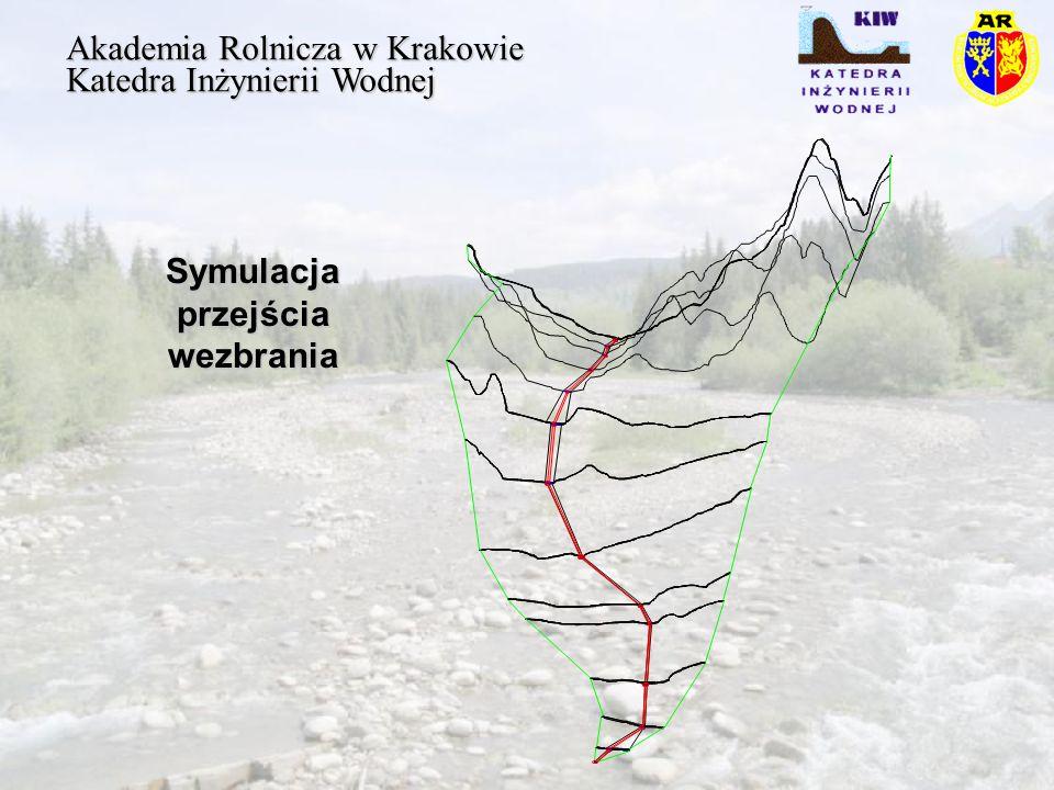 Symulacja przejścia wezbrania Akademia Rolnicza w Krakowie Katedra Inżynierii Wodnej