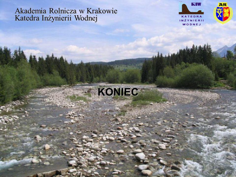 KONIEC Akademia Rolnicza w Krakowie Katedra Inżynierii Wodnej