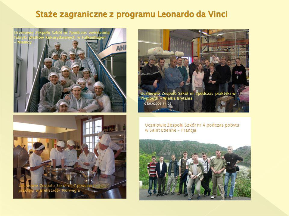 Uczniowie Zespołu Szkół nr 7podczas zwiedzania fabryki płatków kukurydzianych w Falkenhagen – Niemcy Uczniowie Zespołu Szkół nr 7 podczas praktyki w B