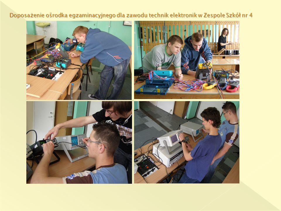 Doposażenie ośrodka egzaminacyjnego dla zawodu technik elektronik w Zespole Szkół nr 4