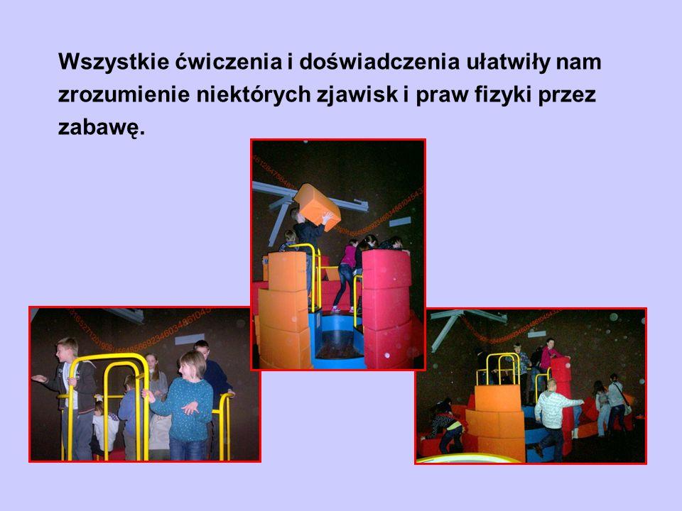 Wszystkie ćwiczenia i doświadczenia ułatwiły nam zrozumienie niektórych zjawisk i praw fizyki przez zabawę.