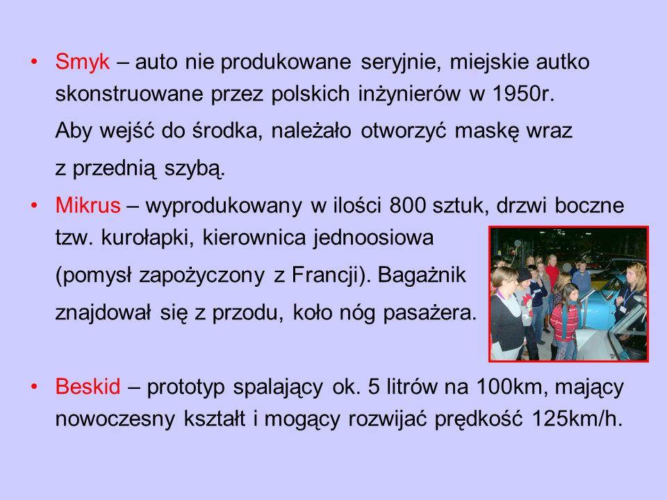 Smyk – auto nie produkowane seryjnie, miejskie autko skonstruowane przez polskich inżynierów w 1950r.
