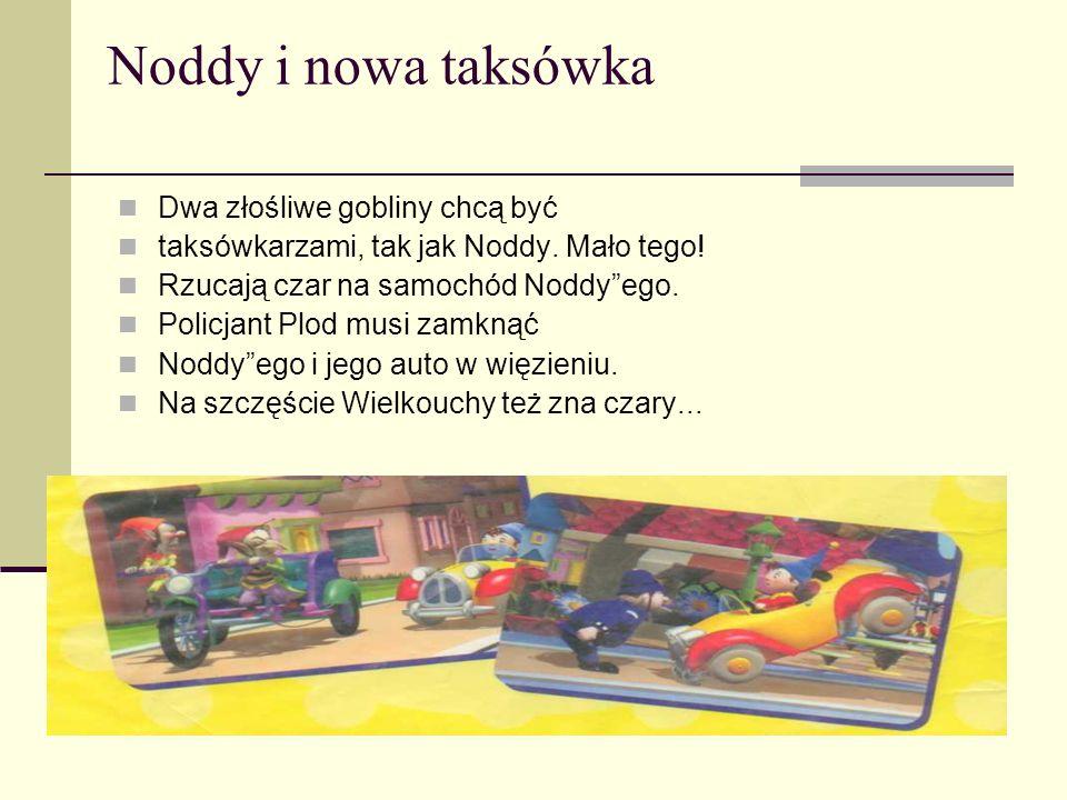 Noddy, Misia Tesia i latawiec Pewnego wietrznego dnia Noddy i Misia Tesia puszczali na łące latawiec. Ale latawiec uciekł, a na Miasteczko Zabawek spa