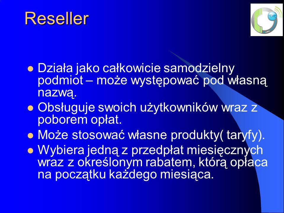 Reseller Działa jako całkowicie samodzielny podmiot – może występować pod własną nazwą.