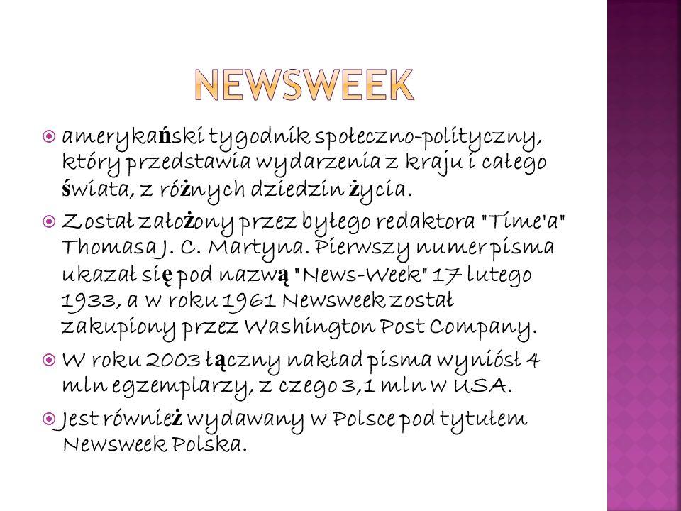 polska edycja mi ę dzynarodowego miesi ę cznika W Polsce pismo ukazuje si ę od 16 grudnia 2004 roku.