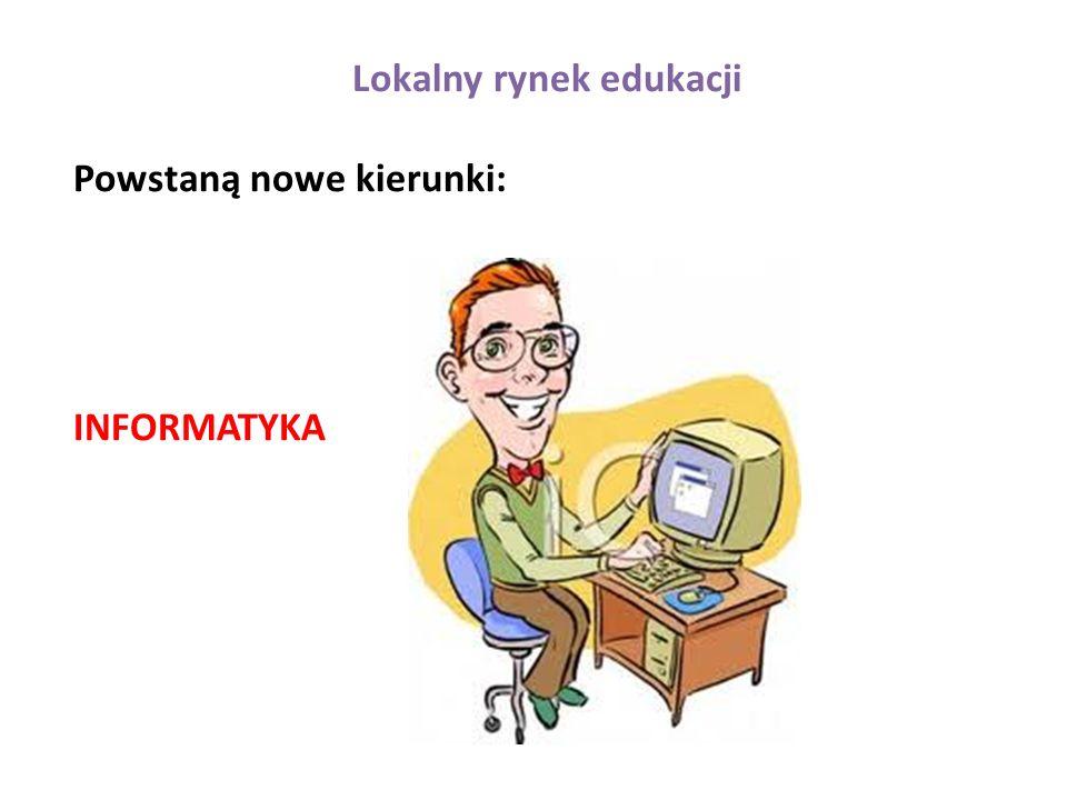 Lokalny rynek edukacji Powstaną nowe kierunki: INFORMATYKA