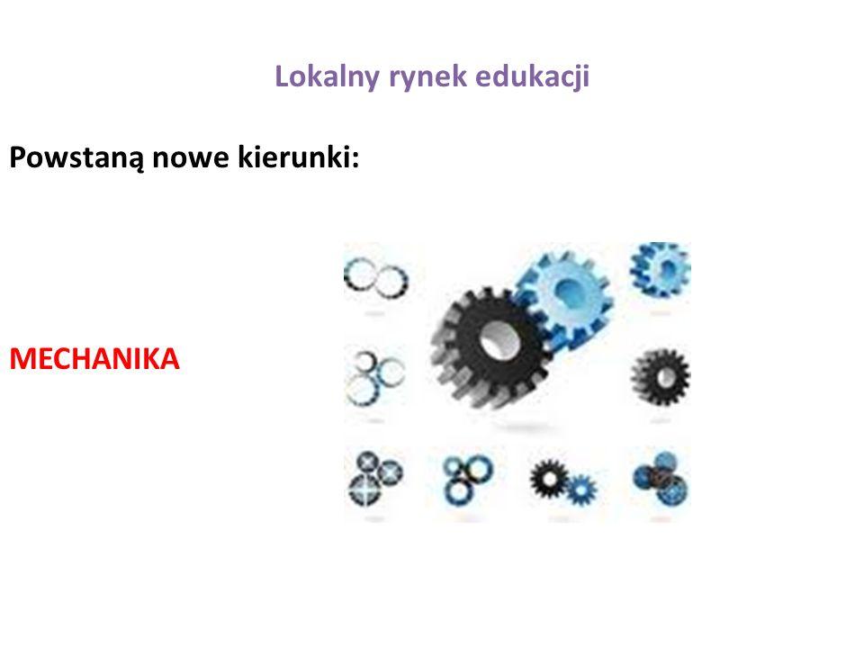 Lokalny rynek edukacji Powstaną nowe kierunki: MECHANIKA