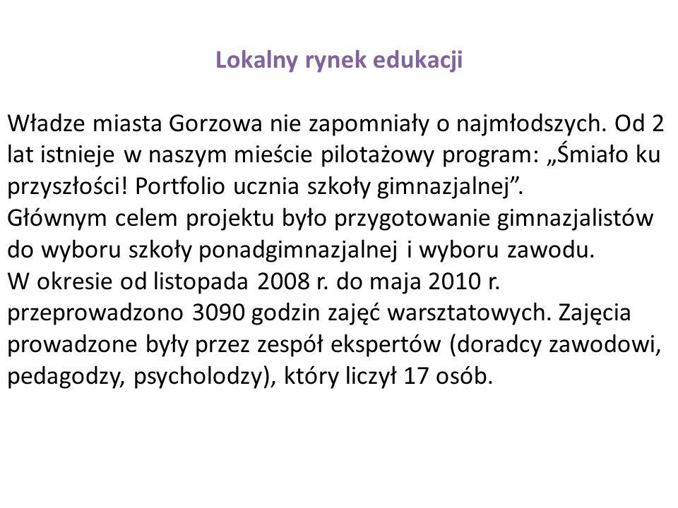 Lokalny rynek edukacji Władze miasta Gorzowa nie zapomniały o najmłodszych.