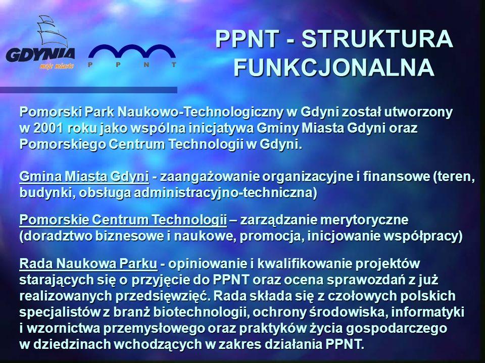 Pomorski Park Naukowo-Technologiczny w Gdyni został utworzony w 2001 roku jako wspólna inicjatywa Gminy Miasta Gdyni oraz Pomorskiego Centrum Technologii w Gdyni.